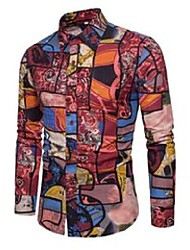 cheap -men's casual shirts ! fashion long sleeve shirt with patchwork random brand big dx686 in 2021