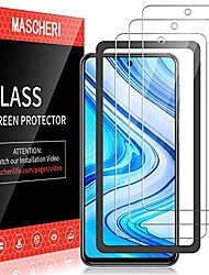 cheap -Phone Screen Protector For Xiaomi Redmi Note 9 Redmi Note 9 Pro Redmi Note 9 Pro Max Redmi Note 9S Redmi Note 10 Tempered Glass 3 pcs High Definition (HD) Ultra Thin Scratch Proof Front Screen