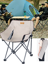 cheap -Camping Chair Portable Ultra Light (UL) Multifunctional Foldable Steel Tube Aluminum Alloy for 1 person Fishing Beach Camping Traveling Autumn / Fall Winter Black Khaki / Breathable / Comfortable