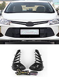 cheap -OTOLAMPARA Left/Right 2 Sides Car LED Daytime Running Lights 40W COB LED DRL for Toyota Vios 2001 / 2002 / 2003 Turn Signal Light Upgraded Kit