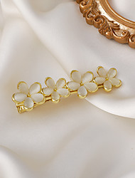 cheap -clip headdress south korea's new opal hair clip back of the head temperament flower spring clip a word top clip hair clip