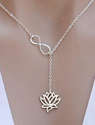 cheap -Women's Necklace Lotus Simple Alloy Silver Gold 62 cm Necklace Jewelry 1pc For Festival