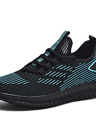 cheap -Men's Trainers Athletic Shoes Sporty Outdoor Running Shoes Mesh Breathable Black and White White Black / Green Spring Summer