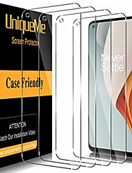 cheap -Phone Screen Protector For OnePlus OnePlus 9 OnePlus 8 Pro OnePlus 8 OnePlus 7T OnePlus 7T Pro Tempered Glass 4 pcs High Definition (HD) Scratch Proof Front Screen Protector Phone Accessory