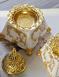 cheap -middle east arab resin incense burner golden metal combination incense burner classical retro style aroma diffuser one shipment