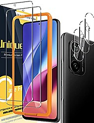 cheap -Phone Screen Protector For Xiaomi Mi 11 Redmi Note 9T Poco X3 NFC Redmi 9T Mi 10 Tempered Glass 5 pcs High Definition (HD) Scratch Proof Front & Camera Lens Protector Phone Accessory
