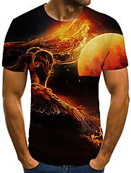 cheap -Men's Unisex Tee T shirt 3D Print Graphic Prints Wings Plus Size Print Short Sleeve Casual Tops Basic Fashion Designer Big and Tall Black