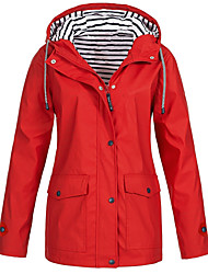 cheap -Women's Jacket Solid Colored Classic Sporty Fall Jacket Regular Sports & Outdoor Long Sleeve Polyester Coat Tops Navy / Spring