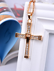 cheap -necklace wholesale cross european and american necklace alloy speed and passion 8 cross necklace cross pendant diamond