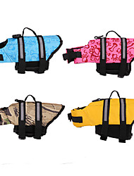 cheap -Dog Life Vest Casual / Daily Casual / Sporty Dailywear Casual / Daily Dog Clothes Puppy Clothes Dog Outfits Waterproof Camouflage Color Yellow Blue Costume for Girl and Boy Dog Cotton Fabric XS S M L