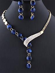 cheap -Women's Jewelry Set Sweet Earrings Jewelry Blue / Purple / White For Gift Festival 1 set