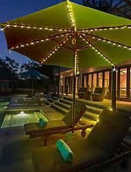 preiswerte -Outdoor Solar Lichterkette LED Solar Garten Licht Solar Sonnenschirm Lichter 72 LED Solar Outdoor wasserdichte Garten Terrasse Lichterketten IP67 mit Lichtsensor Steuerung Garten dekorative Lampe 1