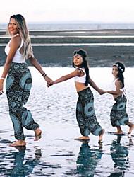 cheap -Mommy and Me Tie Dye/Boho Pattern Print Yoga Pants