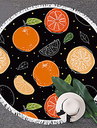 cheap -Multi Purpose Beach Towel,Superfine Fibre Round Colorful Vegetables Patterned Silk Scarf,Sand Free Towel, for Travel, Camping, Pool, Outdoor or Picnic