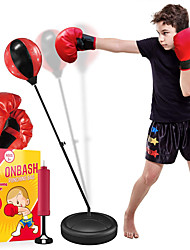cheap -Punching Bag Set for Kids with Boxing Gloves Hand Pump 3-8 Years Old Adjustable Kids Punching Bag with Stand Gifti for for Girls Boys Portable Long-Lasting