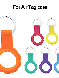 cheap -Case for Airtag Portable Silicone Skin Cover Protective Case with Keychain for Airtags, Anti-Scratch Lightweight Case Compatible with AirTag Loop