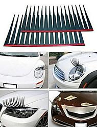 cheap -black car eyelash headlight eyelash sticker for car car false eyelash sticker (2pcs price)