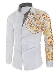 cheap -men's casual shirts shirt brand 2021 luxury gold high quality long sleeve business dress black prom social print