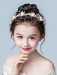 economico -accessori per capelli da bambina per bambini accessori per capelli da festa fascia per capelli da sposa ragazza di fiori copricapo da sposa per ragazza compleanno fascia per capelli testa fiore