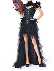 cheap -Women's Not Specified Corset Set - Fashion, Buckle Black S M L