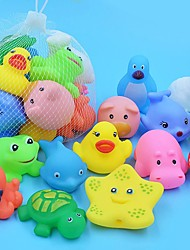 cheap -Bath Toy Beach Toy Rubber Bath Toys Animal Funny Interactive Pool Bathroom 10 pcs for Toddlers, Bathtime Gift for Kids & Infants