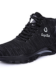 cheap -Safety Work Boots Steel Toe Cap Trainers For Mens Sporty Office & Career Flyknit Water Proof Non-slipping Booties Ankle Boots Summer Fall Spring