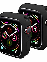 cheap -sundo compatible for apple watch case soft tpu thin lightweight protective bumper cover guard accessories for smartwatch(black/black,series 3/2 38mm)