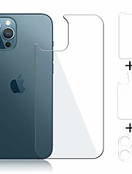 cheap -Phone Screen Protector For Apple iPhone 13 12 iPhone 11 iPhone 12 Pro Max iPhone 11 Pro iPhone 11 Pro Max Tempered Glass 3 pcs High Definition (HD) Ultra Thin Scratch Proof Front & Back & Camera Lens