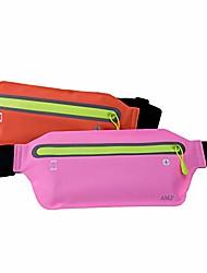 cheap -amj fanny pack running pouch belt for women men, pink & orange