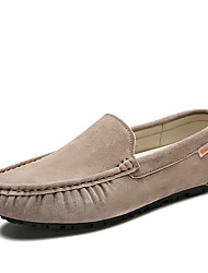 cheap -Men's Loafers & Slip-Ons Suede Shoes Driving Shoes Classic Daily Suede Breathable Blue Gray Khaki Spring