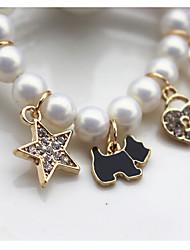 cheap -Kids Baby Girls' New Girls Children's Accessories Jewelry Cute Drop Oil Belt Rhinestone Pendant Symphony Pearl Mix And Match Bracelet