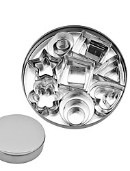 cheap -Stainless Steel Biscuit Mold Cookie Mold 24-Piece Set Graphic Cake DIY Baking Utensils