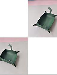 cheap -new original cute cat shape desktop storage box cosmetic remote control storage basket leather snack storage tray