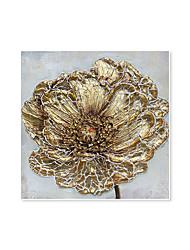 cheap -Oil Painting Handmade Hand Painted Wall Art Golden Flowers Abstract Modern Home Decoration Decor Rolled Canvas No Frame Unstretched
