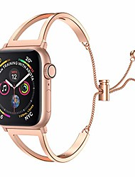 cheap -Smart watch Band stainless steel watch bands compatible for apple watch series 6/5/4/3/2/1 se 38mm 40mm 42mm 44mm jewelry style classic cuff bracelet replacement band suitable for women(38mm 40mm)