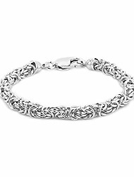 cheap -vanbelle sterling silver jewelry hand-made byzantine chain bracelets with rhodium plating for men and women