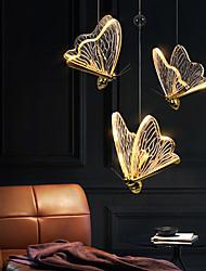 cheap -LED Pendant Light Butterfly Bedside Light 17 cm Single Design Acrylic Brass LED Modern Nordic Style Bedroom Living Room 110-240 V