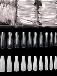 cheap -wincang coffin fake nails tip- ballerina false nail tips,1000 pcs acrylic flake nails full cover clear/natural false nails,artificial 10 sizes acrylic nail tips for diy nail art,nail salon with box