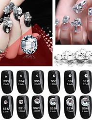 cheap -Nail Decoration DIY Flat Bottom Rhinestone Nail A Rhinestone Czech Nail Jewelry Nail Rhinestones