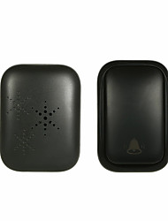 cheap -Wireless Door Bell Doorbell Mini Waterproof Doorbell Kits Battery Free Chime Operating 500 Feet 3 Volume Levels Indicator Light