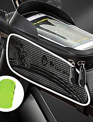 cheap -1.5 L Bike Frame Bag Top Tube Waterproof Portable Reflective Strips Bike Bag Nylon Bicycle Bag Cycle Bag Outdoor Exercise Bike / Bicycle