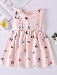 cheap -Baby Girls' Basic Floral Print Sleeveless Dress Blushing Pink