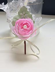 "cheap -Wedding Flowers Boutonnieres Wedding / Wedding Party Artificial Flower / Metal / Fabrics 2.36""(Approx.6cm)"