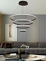cheap -LED Pendant Light Dimmable Light Modern Black Gold 4 Ring Design 60cm Acrylic Nordic Style 220-240V