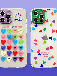 cheap -Phone Case For Apple Back Cover iPhone 12 iPhone 12 Pro Max iPhone 12 Pro Shockproof Dustproof Translucent Heart TPU