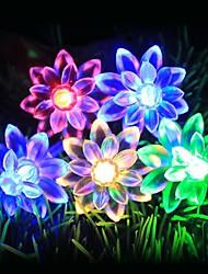 cheap -Lotus Shaped LED String Lights 6M 3M 1.5M Battery USB Operation 40LEDs 20LEDs 10LEDs Christmas Wedding Garden Patio Holiday Decoration Light
