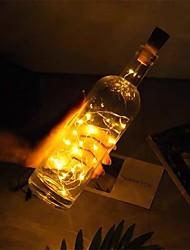 cheap -Outdoor Solar String Light LED Solar Garden Light 2M 20LED Solar Powered Wine Bottle Cork Shaped LED Copper Wire String Outdoor Light Garland Lights Festival Outdoor Fairy Light 1 PC