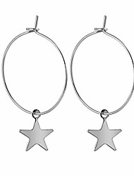 cheap -large round hoop star dangle earrings women lightweight cool stud huggie clip on girls gold or sterling silver 2
