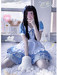 preiswerte -Inspiriert von Cosplay Cosplay Anime Cosplay Kostüme Japanisch Kleider Kleid Kopfbedeckung Für Damen