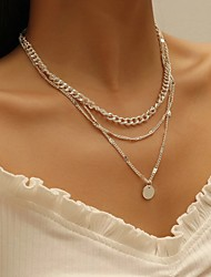 cheap -Women's Necklace Stacking Stackable Simple Vintage European Alloy Silver Gold 30-50 cm Necklace Jewelry For Anniversary Street Prom Birthday Party Festival